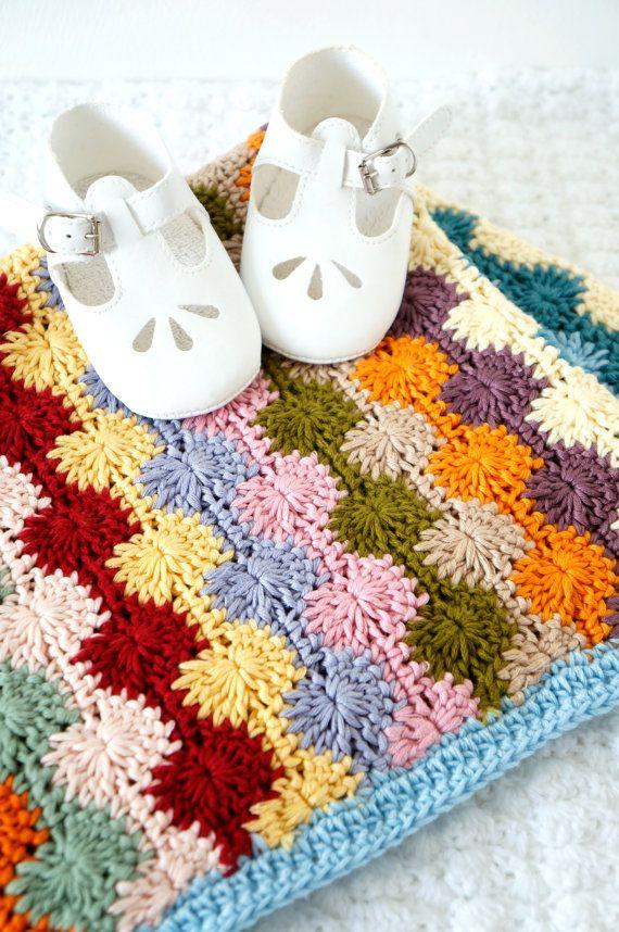 baby blanket pattern crochet tutorial project PDF pattern baby blanket car seat afghan baby