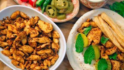 طريقة عمل شاورما الدجاج مع صلصة الثومية - Chicken shawarma with garlic sauce recipe