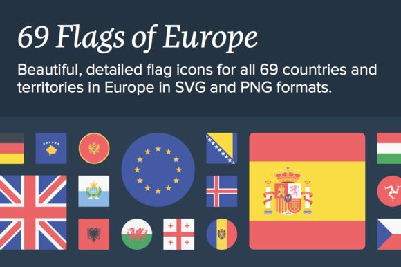 The Flags of Europe  on @creativework247
