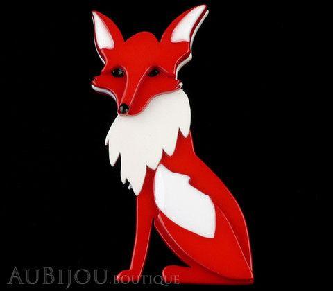 Erstwilder Brooch Pin Ferne Fox