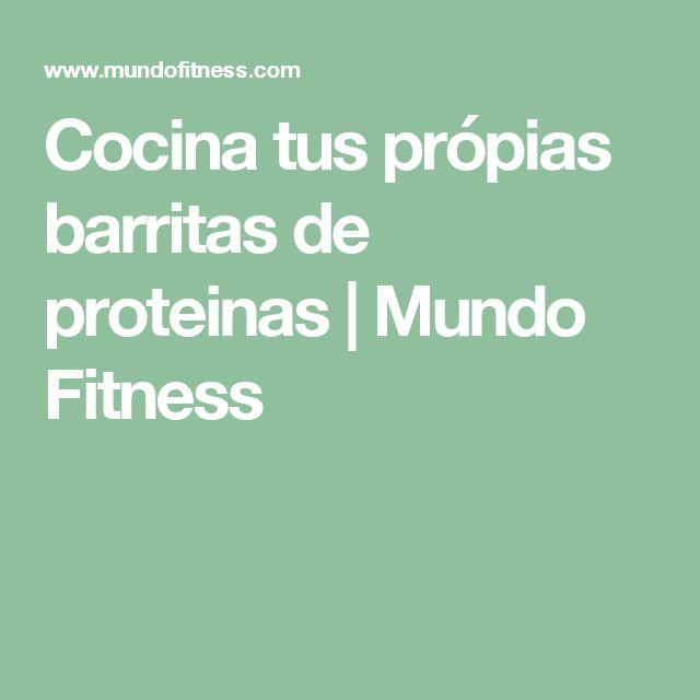 Cocina tus própias barritas de proteinas | Mundo Fitness