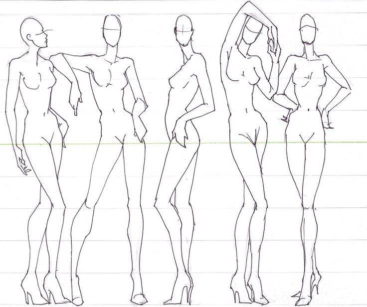 Download free fashion template for your fashion design sketches. Use 82