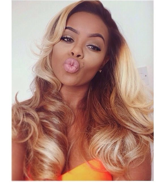Black Roots Blonde Hair Weave Omber Honey Blonde With Dark Roots