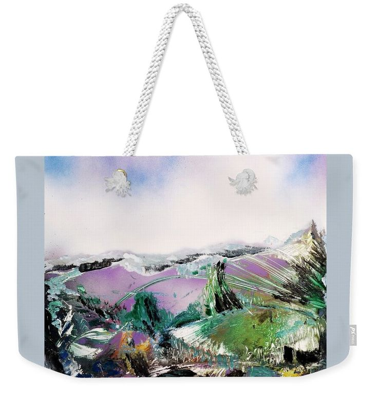 Lake Of The Dawn Weekender Tote Bag Printed with Fine Art spray painting image Lake Of The Dawn Nandor Molnar (When you visit the Shop, change the size, background color and image size as you wish)