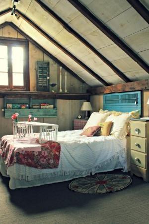 sleeping nook - shutter headboard by valarie