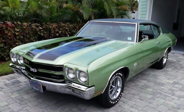 45 B Green Mist Black Vinyl Top 1970 Chevelle Chevelle Muscle Cars Camaro