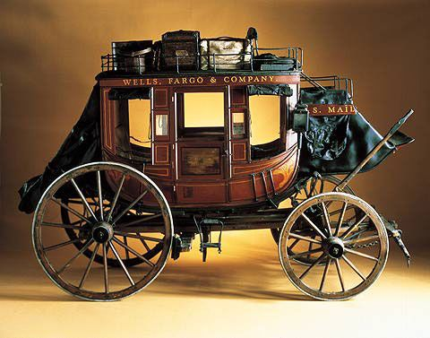 A stage coach like this one is housed in the Factory garage, for Jeeves. He's fascinated with the American west.
