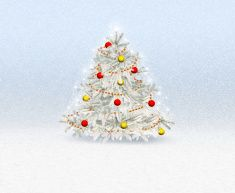 Christmas tree with decorations Greeting Card - illustration vector art illustration