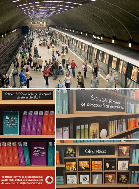 Hybrid Library: QR Codes Access eBooks in Subway Station