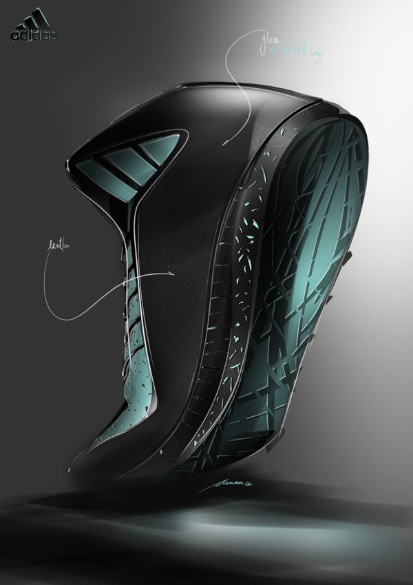 Adidas footwear by Arnau Sanjuan, via Behance