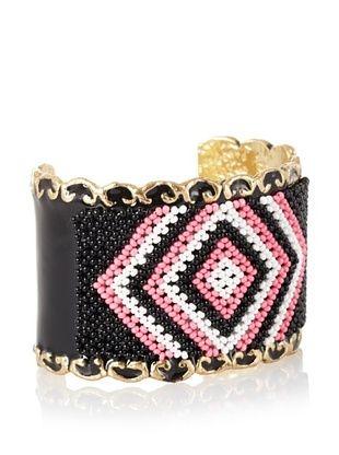 Josefina De Alba Black/Pink/White Geometry Cuff