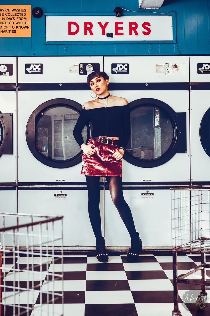 Loved this fashion shoot I shot in natural light in this UK laundromat/launderette with Sleek model Nataria. www.KhandiePhotography.com