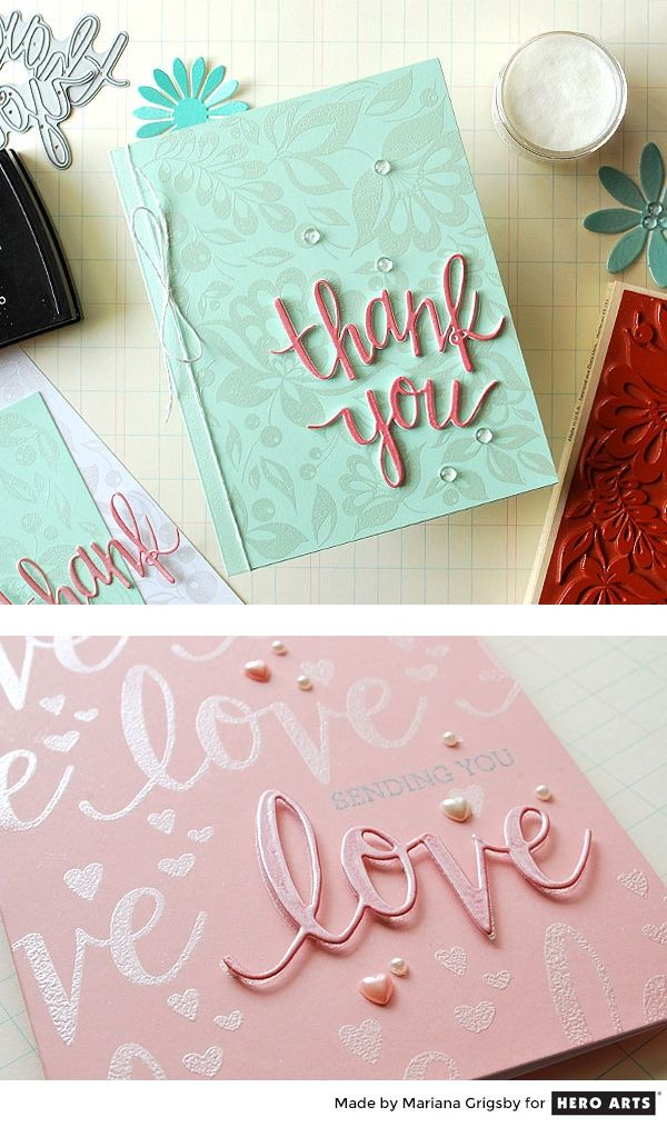 Video: Mariana shows how to use White Satin Pearl embossing powder to create beautiful backgrounds and enhance die cut shapes