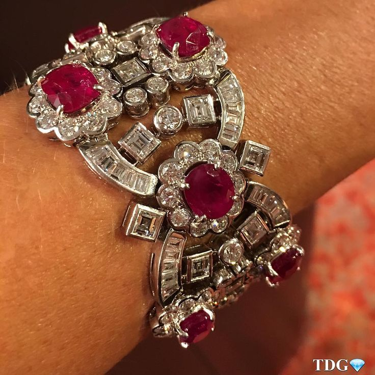 Harry Winston a ruby and diamonds bracelet .. @yafasignedjewels                                                                                                                                                                                 More
