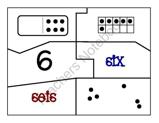 bilingual number sense subitizing puzzles and cards 1 30 from claudia alonso on. Black Bedroom Furniture Sets. Home Design Ideas
