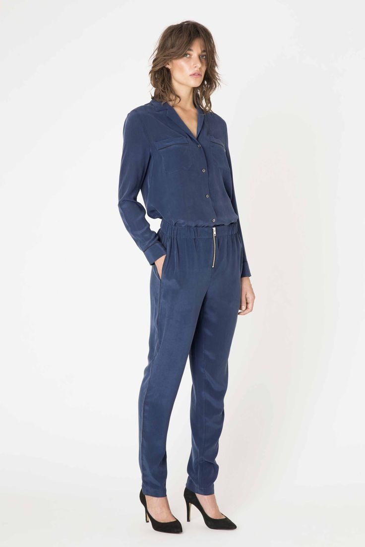 New Port Silk shirt & trousers from Ganni Spring / Summer 2015 collection.