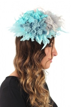 Malababa Galia Fascinator Large in Turquesa