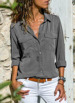 Lässige Kleidung Halbarm Farbquadrat V-Ausschnitt…