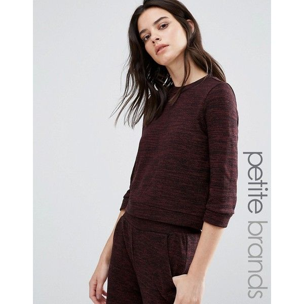 Vero Moda Petite Slouchy Jumper ($43) ❤ liked on Polyvore featuring tops, sweaters, brown, petite, brown sweater, slouchy tops, zip top, slouchy sweater and petite tops