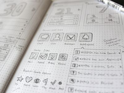 Creative Examples of UI and Wireframe Sketches