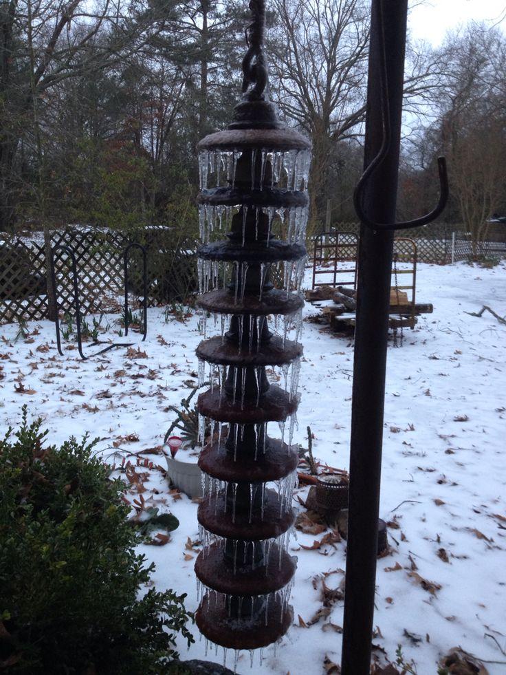 Ceramic insulator rain chain.