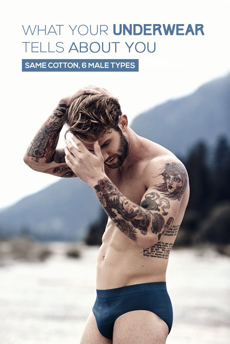 What your underwear tells about you: same cotton, 6 male types