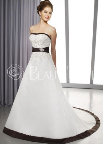 21 best Black accent wedding dresses images on Pinterest | Wedding ...