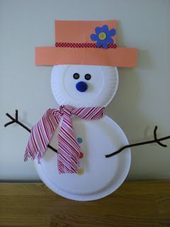 How to Make Photo Plates | Two Cups of Coffee: Paper Plate Snowman