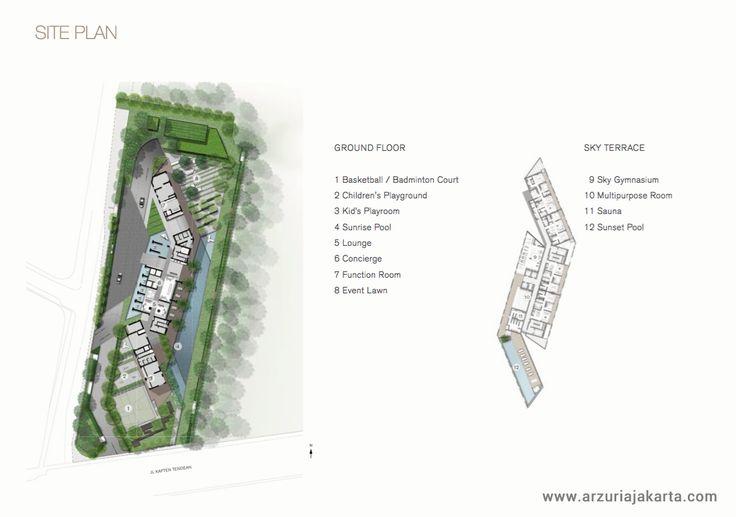 Arzuria Apartment Tendean Jakarta Site Plan.