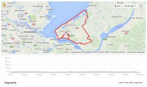 Hieronder het race course van de Challenge Almere-Amsterdam 2014. Aantal hoogtemeters: __