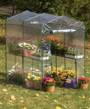 Walk in green house $99. Psh. I can make it with PVC pipes and sheeting for less.
