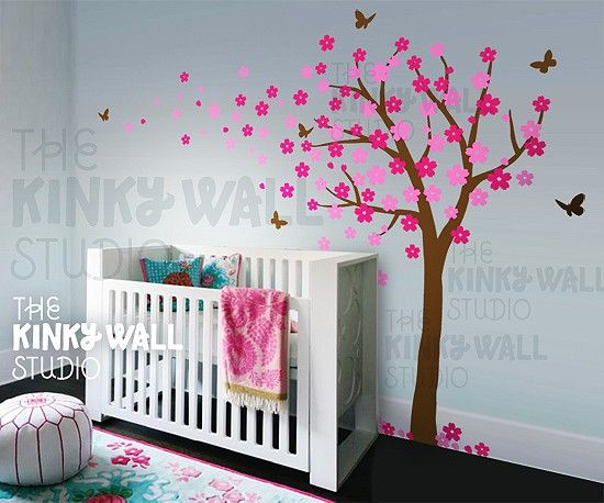 Tree Wall Decal~the prettiest I've seen!: Cherries Blossoms, Wall Stickers Trees, Nursery Ideas, Tree Wall Decals, Trees Decals, Blossoms Trees, Baby Rooms, Trees Wall Decals, Nurseries Ideas