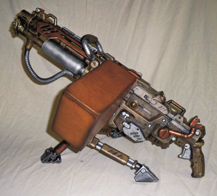 Steampunk Nerf Vulcan.  I have an unmodded one in the closet.  So...  soon...