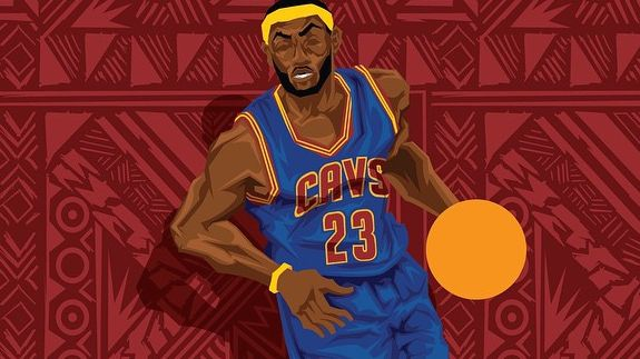 LeBron James 'One Man Gang' Caricature Art