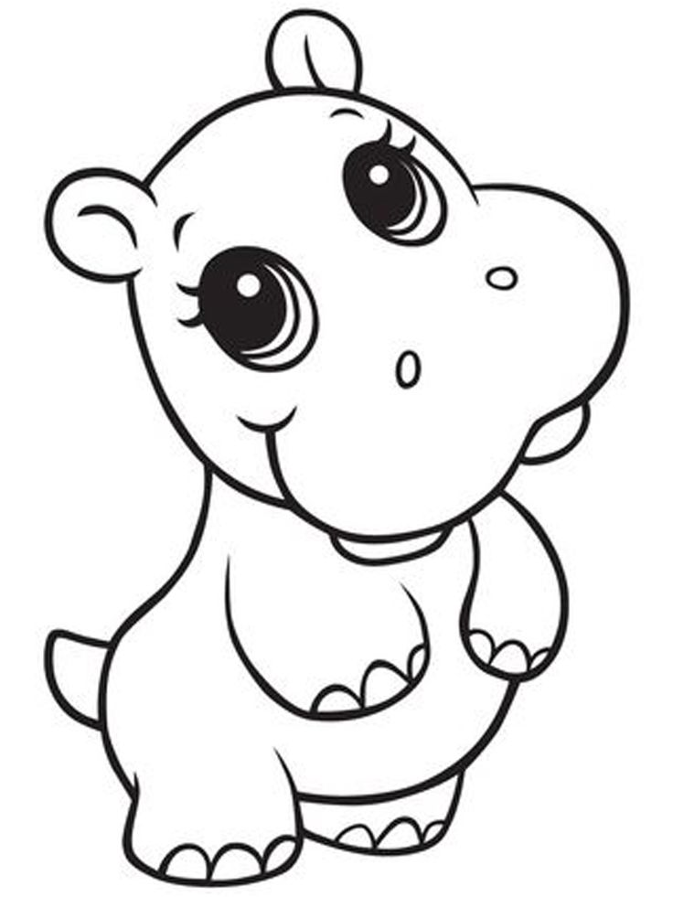Fiona Hippo Coloring Pages. Hippo is a large semi-aquatic ...