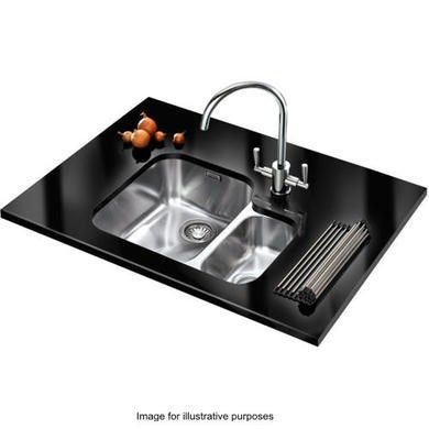 buy franke arx 160 ariane 15 bowl undermount stainless steel sink with right hand small bowl - Kohler Waschbecken Schneidebrett