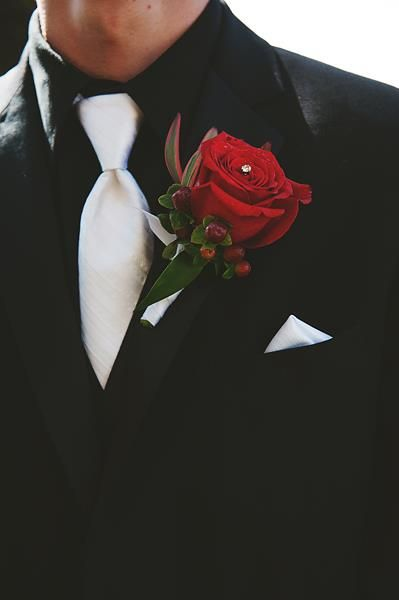 Red and Black Wedding Flowers from Hand Pickd (Just For You) | BrideMeetsWedding.com | Photo by Abbi Triphan Photography @Mari Sterr