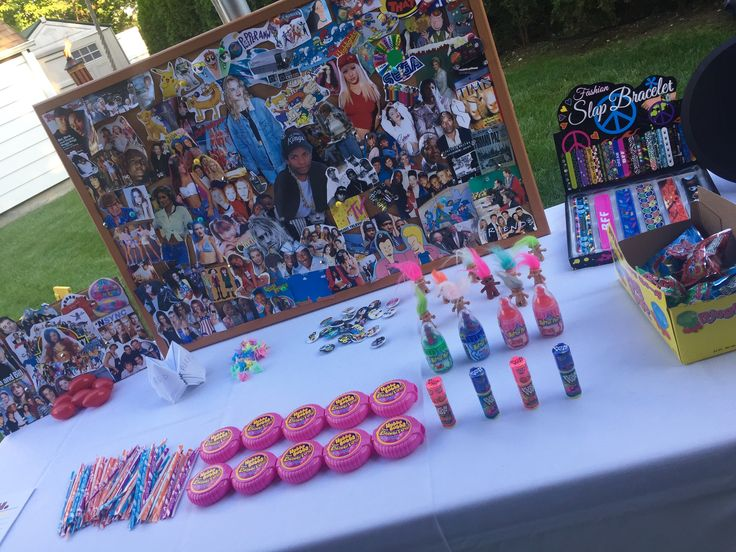 My 25th 90's themed birthday party. WHAT A BLAST, more details to come. 90's everything! Collage, pixie sticks, bubble gum tape, push pops, bottle pops, ring pops, origami.