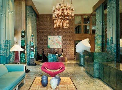 Habitually Chic®: HUE by Kelly Wearstler: Decor, Interior Design, Color, Interiors, Kellywearstler, Living Room, Kelly Wearstler, Viceroy Miami, Hotels