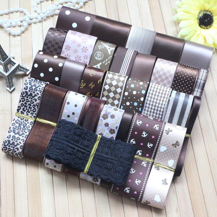 Cheap ribbon bracelet, Buy Quality ribbon directly from China ribbon thickness Suppliers: DIY ribbon setcoffee gradual change color mix ribbon setTOTAL:32 YARDS5.2cm ribbon---2 yard(single faced)3.8c