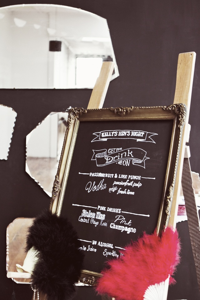 A Vintage & Pretty design blackboard.   Photo by Jenn Hadley
