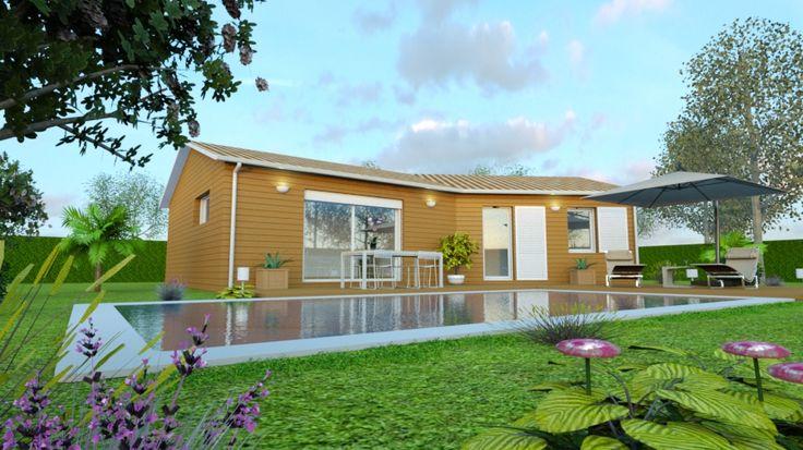 Découvrez ce projet de maison 90m2 réalisé par AMI BOIS http://www.ami-bois.fr/