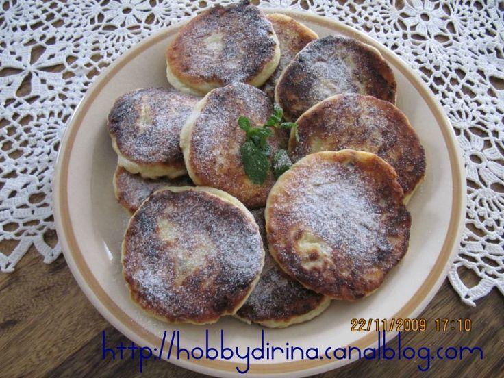 Syrniki (pancakes de fromage blanc russes et ukrainiens)