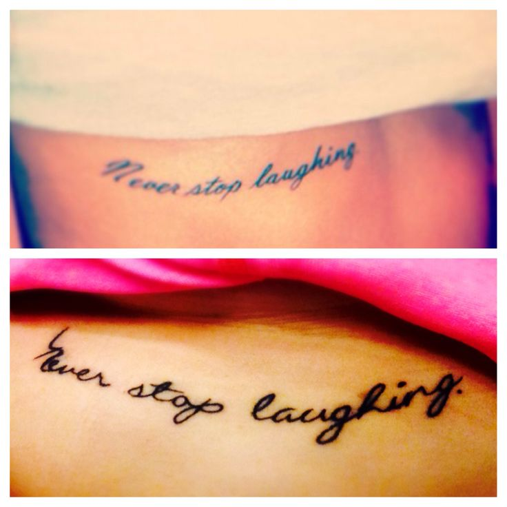 Tattoo Cousin Quotes: Best Friend Tattoo Never Stop Laughing #ribcage #tattoo