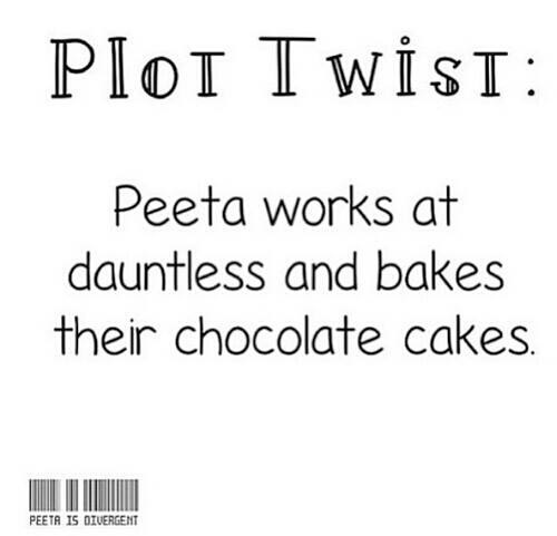 Peeta bakes dauntless cakes the hunger games divergent