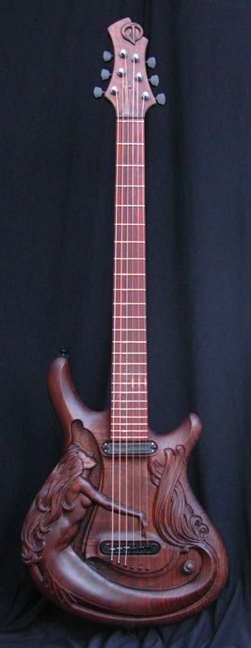 """""""Syrena"""" 6-String Handcarved Electric Guitar by William Jeffrey Jones"""