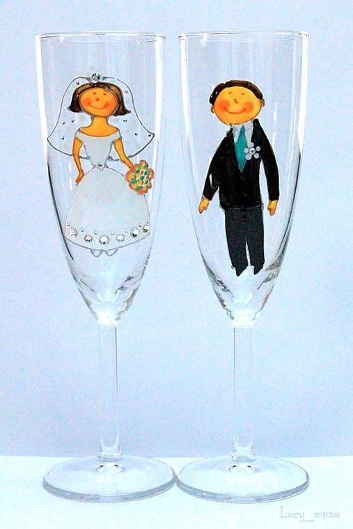 lucy_mnau / Svadobné poháre ♥ženích a nevesta♥