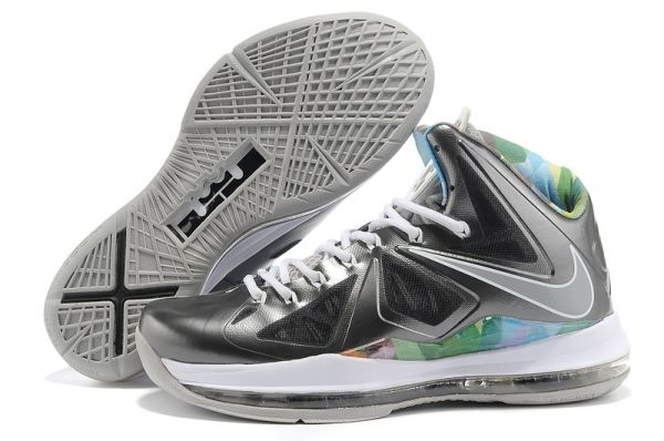 Nike Air Max LeBron James X Black/Grey/Colorful Basketball shoes