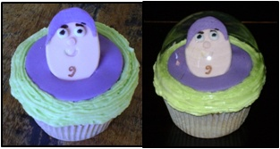 Buzz Lightyear Cupcakes with Helmets
