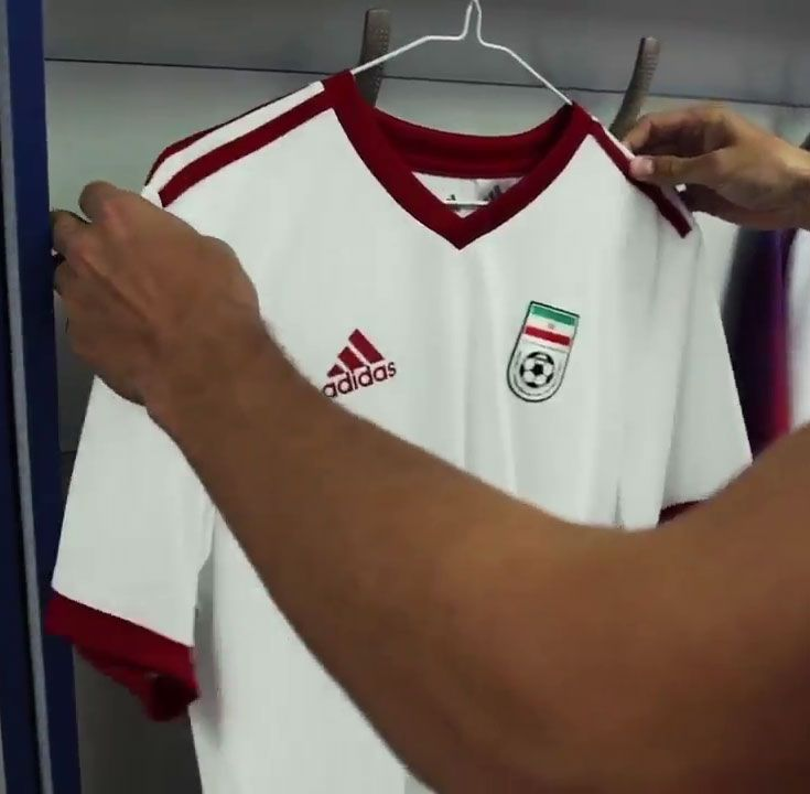2018 World Cup Iran Home White Jersey Shirt Iran Cheap Soccer Jerseys Online Store White Jersey Shirt Soccer Jersey White Jersey